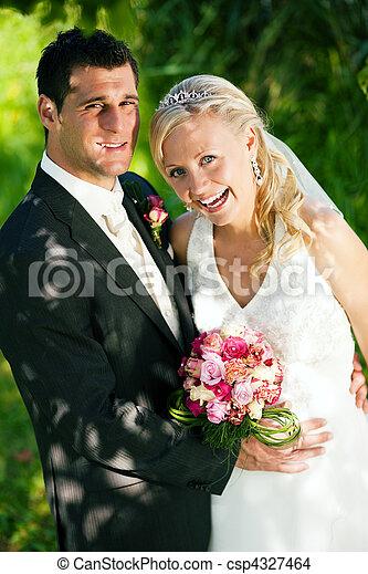 párosít, beállítás, romantikus, esküvő - csp4327464