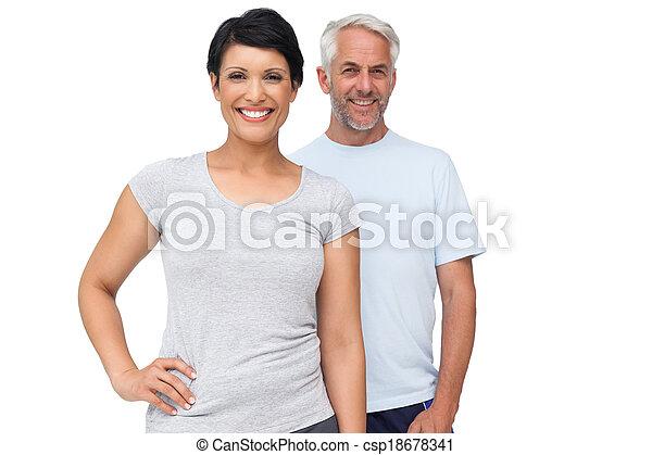párosít, egészséges, boldog, portré - csp18678341