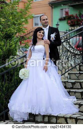 párosít, esküvő - csp21434130