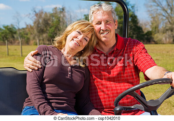 párosít, nyugdíjas, boldog - csp1042010