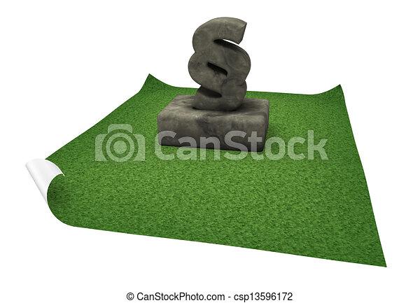 Monumento de párrafo - csp13596172