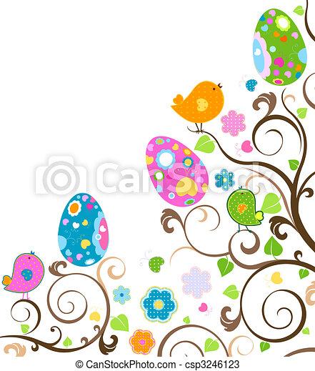 páscoa, árvore - csp3246123