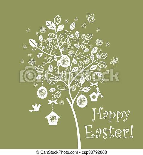 páscoa, árvore - csp30792088