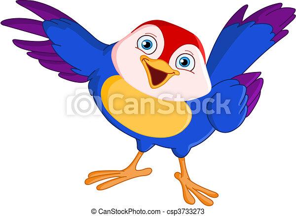 pássaro, apontar - csp3733273