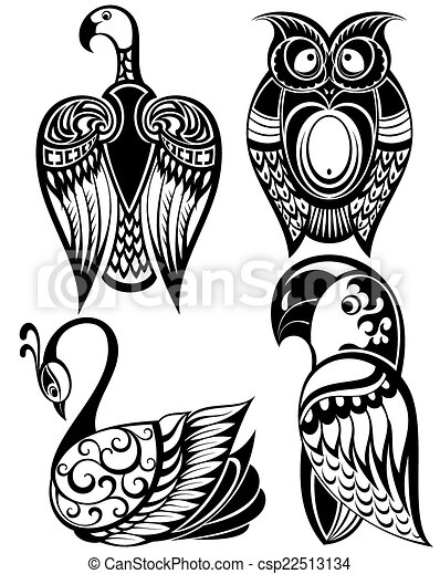 pássaros, ícones - csp22513134