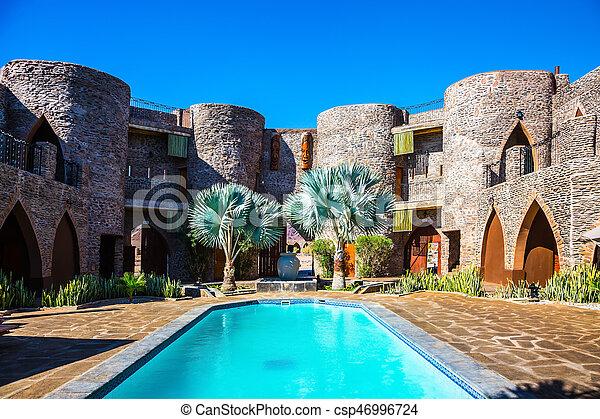 pátio, piscina, natação - csp46996724