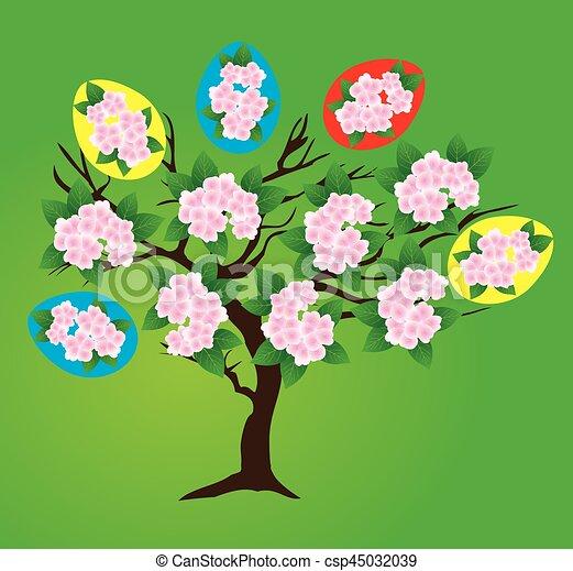 påsk, träd - csp45032039