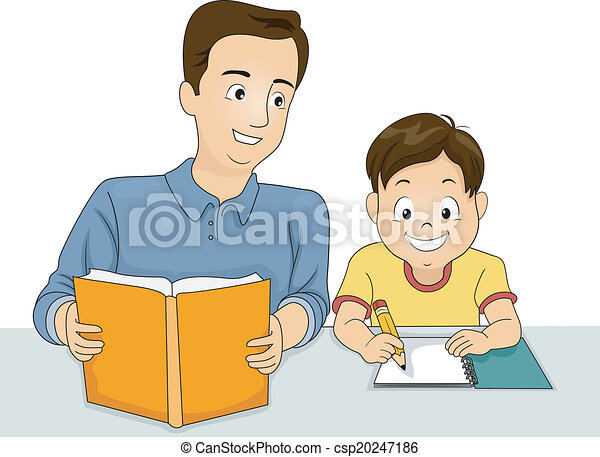 père, devoirs, fils - csp20247186