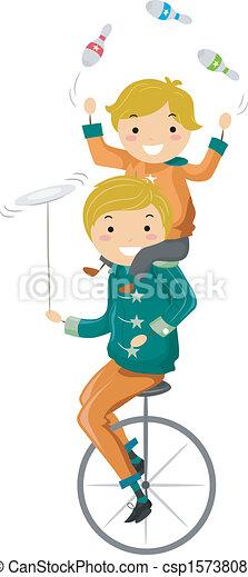 père, jonglerie, fils - csp15738088