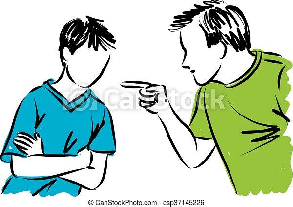 père, parents, disciplines, fils - csp37145226