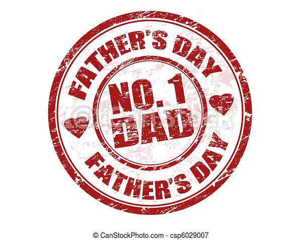 père, timbre, jour - csp6029007