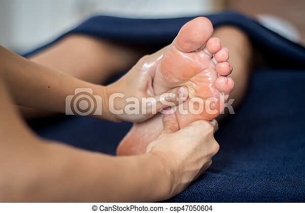 pé, reflexology, tailandês, massagem - csp47050604