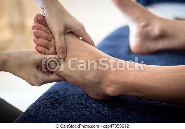 pé, reflexology, tailandês, massagem - csp47050612