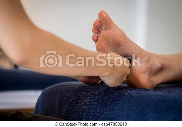 pé, reflexology, tailandês, massagem - csp47050618