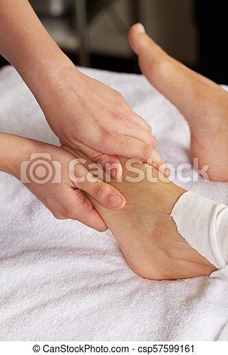 pé, tailandês, massagem - csp57599161