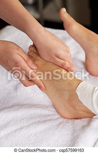 pé, tailandês, massagem - csp57599163