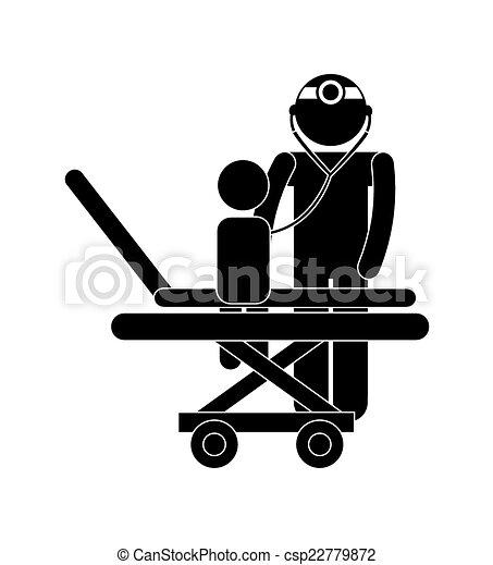 pédiatre, conception - csp22779872