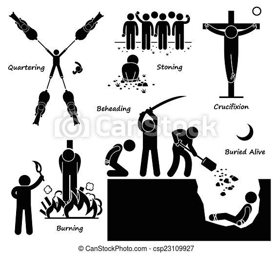 pénalité, exécution, mort, punition - csp23109927