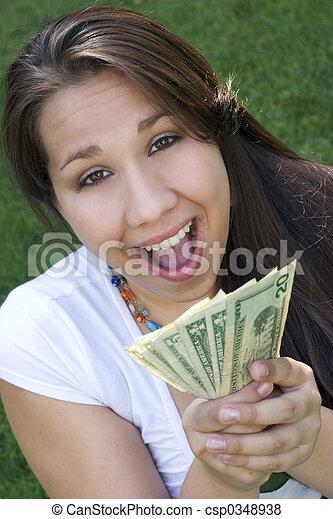 pénz, leány - csp0348938