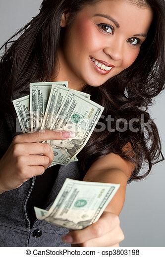 pénz, nő - csp3803198