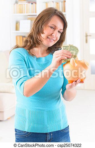 pénz, nő, megmentés - csp25074322