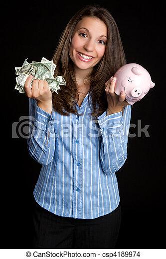 pénz, nő, megmentés - csp4189974