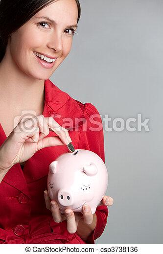 pénz, nő, megmentés - csp3738136