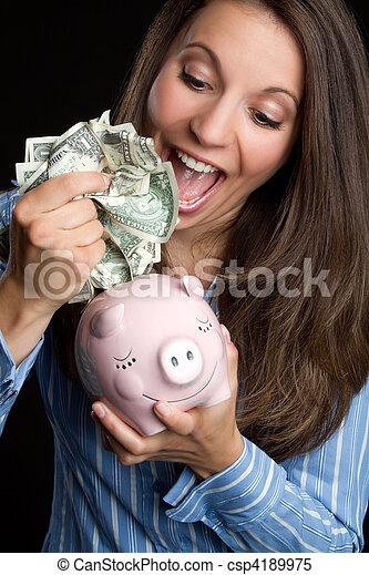 pénz, nő, megmentés - csp4189975