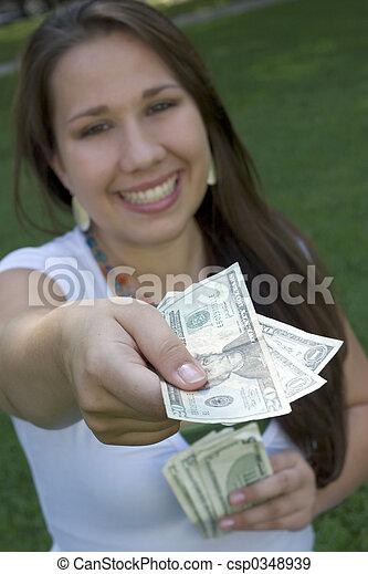 pénz, nő - csp0348939