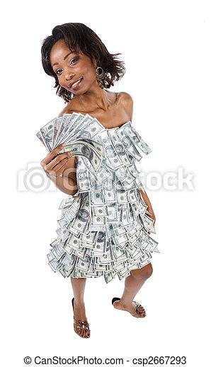 pénz, nő - csp2667293