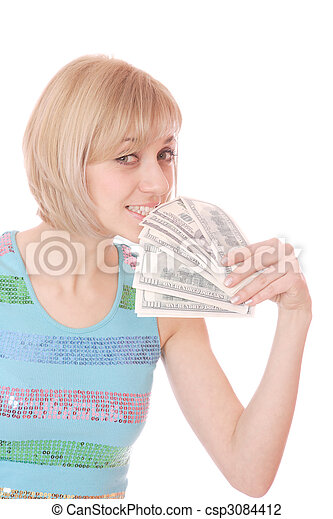 pénz, nő - csp3084412