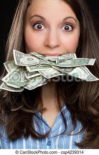 pénz, nő - csp4239314