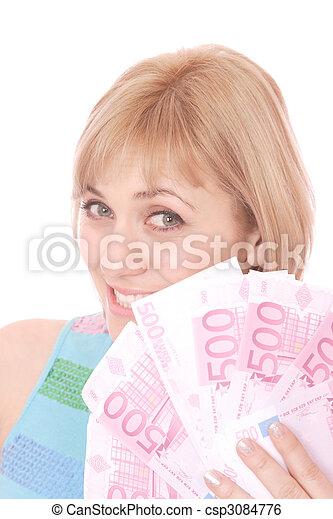 pénz, nő - csp3084776