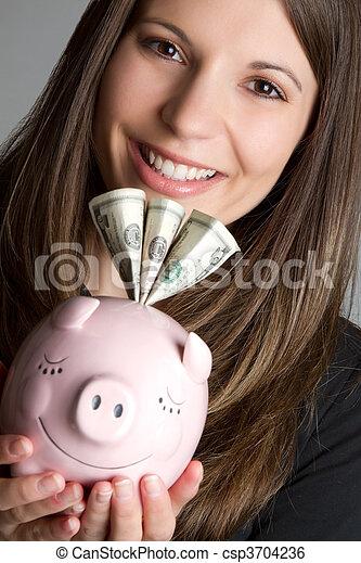 pénz, nő - csp3704236