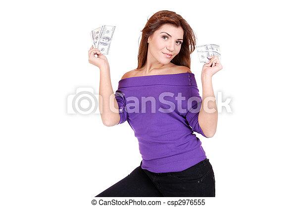 pénz, nő - csp2976555