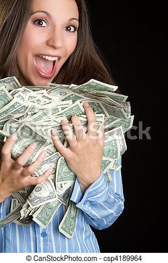 pénz, woman hatalom - csp4189964