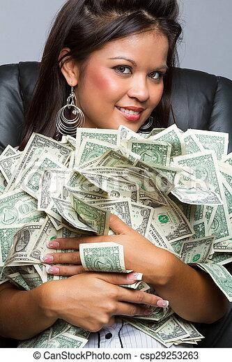pénz, woman hatalom - csp29253263