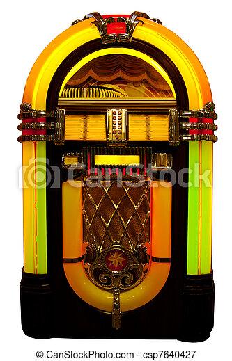 pénzbedobós gramofon automata - csp7640427