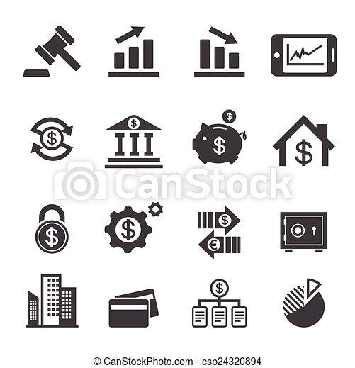 pénzel, ügy, ikon - csp24320894