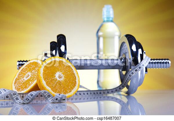 pérdida de peso, condición física - csp16487007