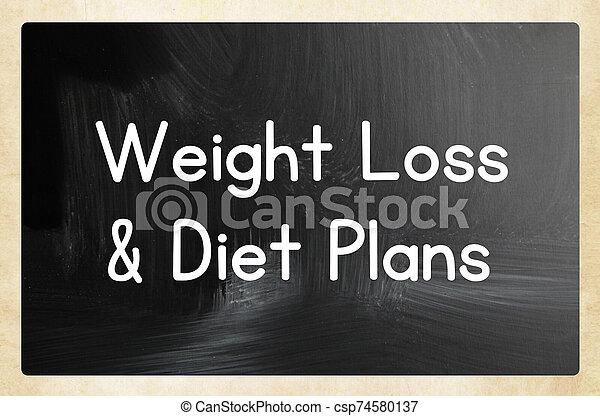 pérdida, dieta, peso, planes, y - csp74580137
