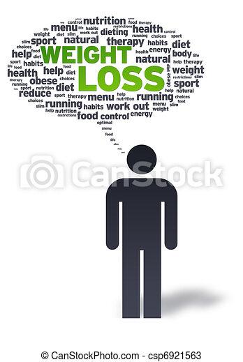 pérdida, iweight, papel, burbuja, hombre - csp6921563