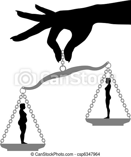 Las mujeres aguantan la grasa a la altura de la pérdida de peso - csp6347964