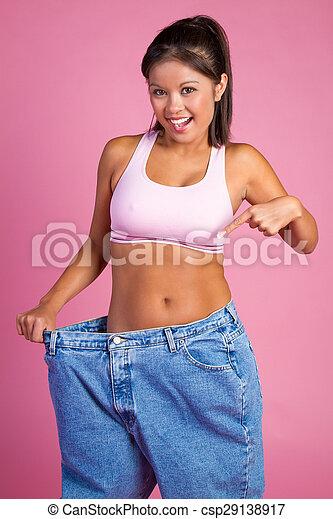 Mujer perdida de peso - csp29138917