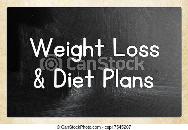 Pérdida de peso planes de dieta - csp17545207