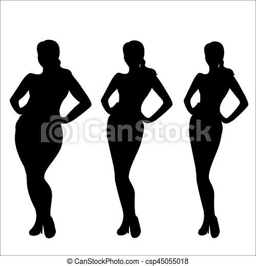 silueta perdida de peso