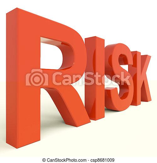 péril, mot, risque, projection, incertitude, rouges - csp8681009