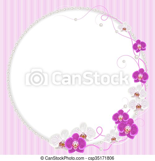 Perolas Quadro Flores Delicado Orquidea Cor De Rosa Perolas