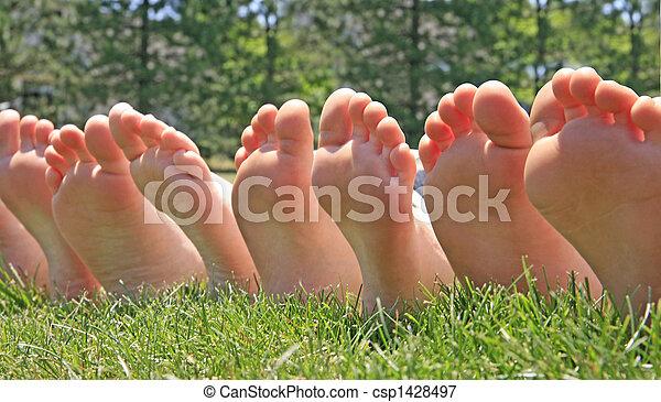 pés, fila - csp1428497