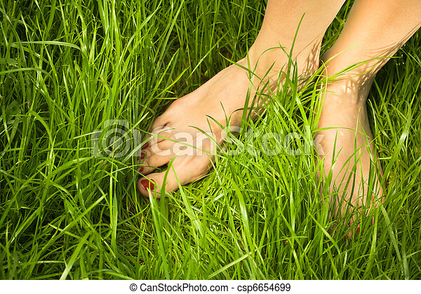 pés, mulher, nu - csp6654699